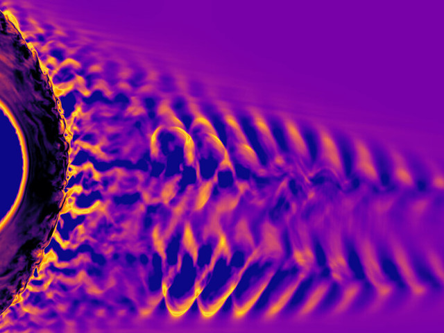 Il suono della tempesta solare quando incontra il campo magnetico terrestre