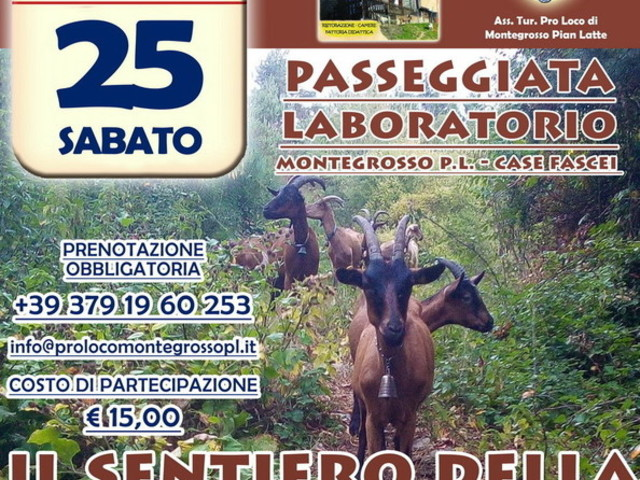 Montegrosso Pian Latte: 'Il sentiero della transumanza, una giornata a contatto con la natura e con la tradizione. Tutti i dettagli