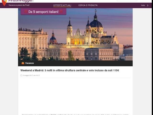 Weekend a Madrid: 3 notti in ottima struttura centrale e volo incluso da soli 115€
