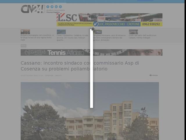 Cassano: incontro sindaco con commissario Asp di Cosenza su problemi poliambulatorio