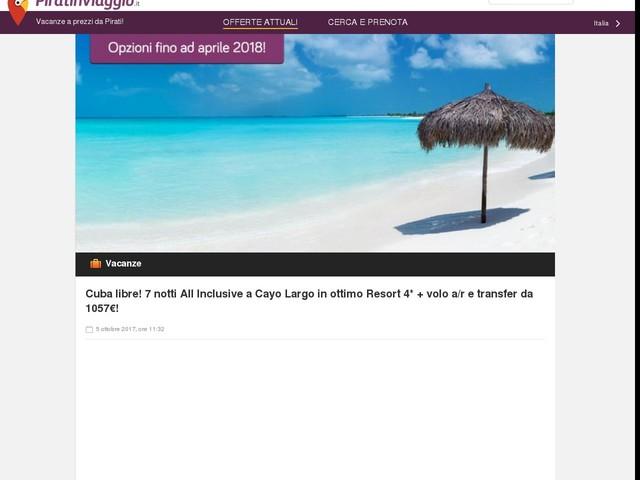 Cuba libre! 7 notti All Inclusive a Cayo Largo in ottimo Resort 4* + volo a/r e transfer da 1057€!