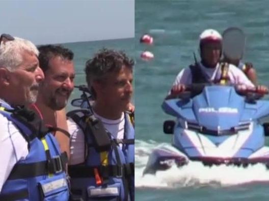 Aperto un procedimento disciplinare contro l'agente che fece salire il figlio di Salvini sulla moto d'acqua