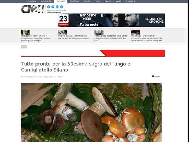 Tutto pronto per la 50esima sagra del fungo di Camigliatello Silano