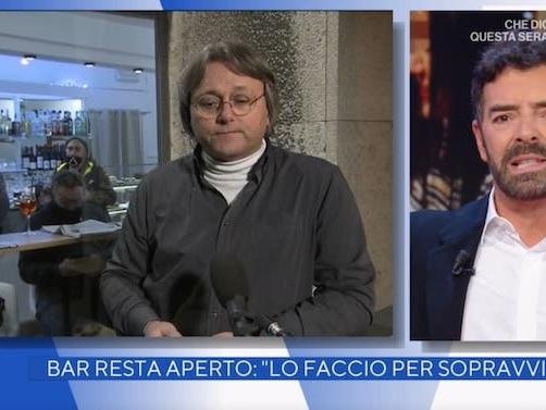 La Vita in Diretta: Alberto Matano interrompe il collegamento con il ristoratore che non vuole indossare la mascherina