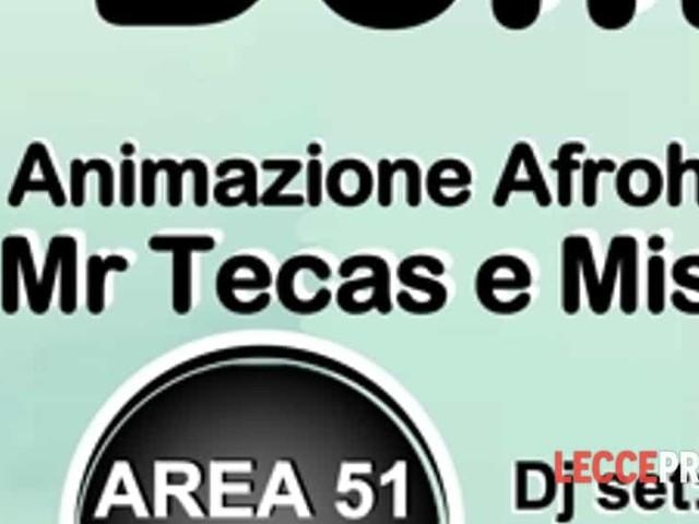 """""""Domingozo"""" latin emotion presso Area 51- la domenica latina-"""