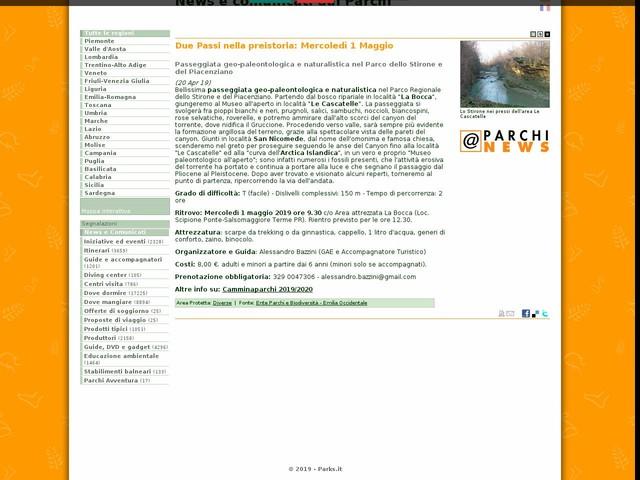 Ente Parchi e Biodiversità - Emilia Occidentale - Due Passi nella preistoria: Mercoledì 1 Maggio