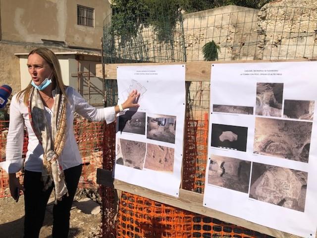 Nuove scoperte durante restauro tomba romana a Cagliari