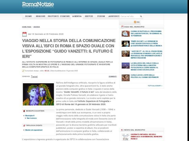 """VIAGGIO NELLA STORIA DELLA COMUNICAZIONE VISIVA ALL'ISFCI DI ROMA E SPAZIO DUALE CON L'ESPOSIZIONE """"GUIDO VANZETTI: IL FUTURO È IERI"""""""
