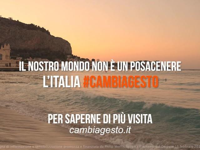 #cambiagesto, arriva a Roma la campagna contro i mozziconi di sigarette