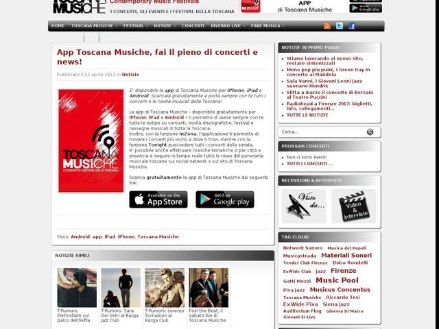 App Toscana Musiche, fai il pieno di concerti e news!