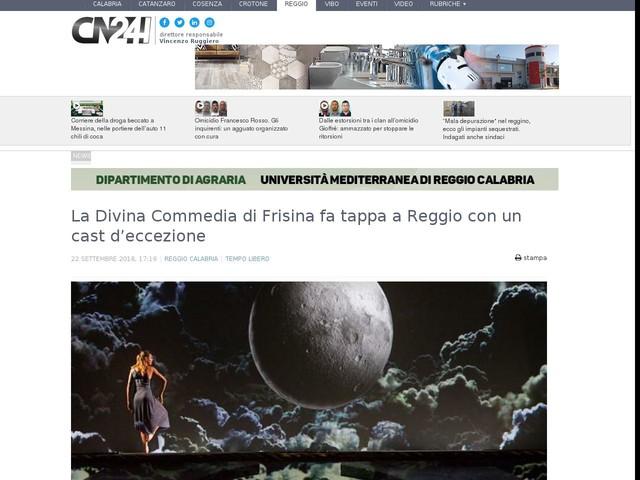 La Divina Commedia di Frisina fa tappa a Reggio con un cast d'eccezione