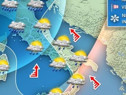 In arrivo un'altra ondata di maltempo Pioggia, vento e neve a bassa quota