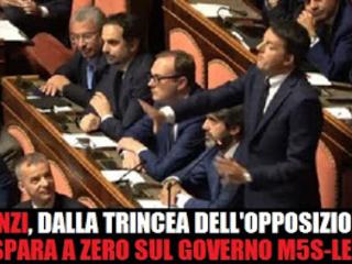 Renzi-show: Conte premier non eletto, potrei dire un collega. Non avete più alibi, siete l'establishment!