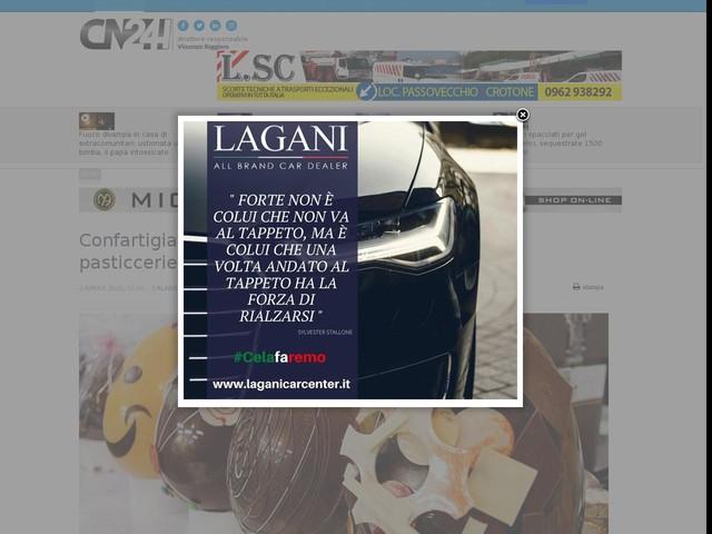 Confartigianato Imprese Calabria chiede apertura pasticcerie in modalità asporto