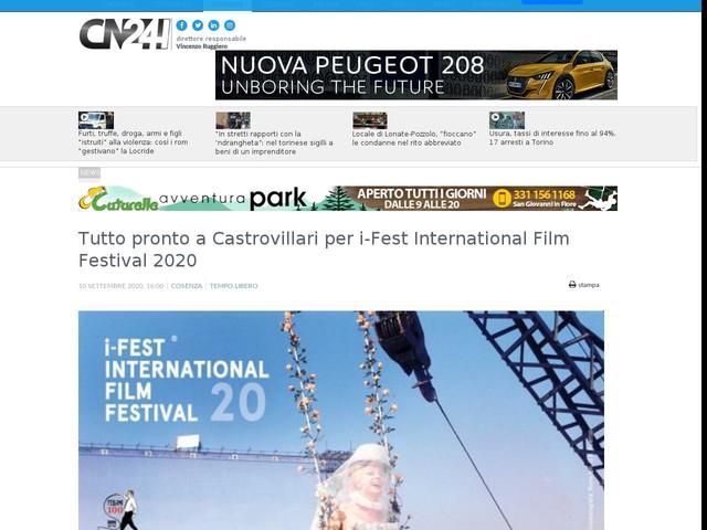 Tutto pronto a Castrovillari per i-Fest International Film Festival 2020