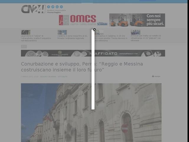 """Conurbazione e sviluppo, Perna: """"Reggio e Messina costruiscano insieme il loro futuro"""""""