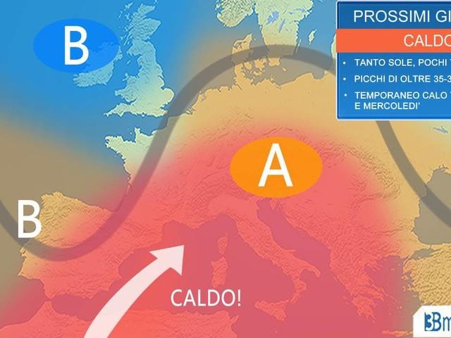 Settima ondata di calore: tra domenica e lunedì picco del caldo