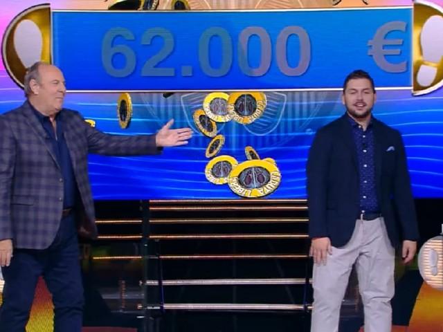 """""""Caduta Libera"""": il campione Lorenzo vince 62mila euro"""