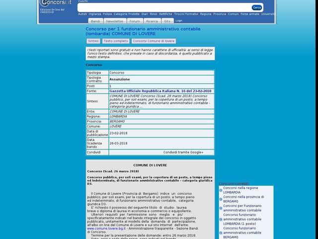 Funzionario amministrativo contabile - BERGAMO