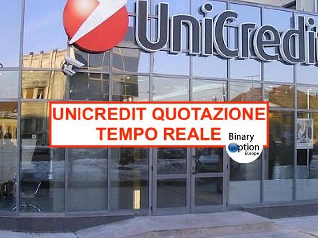 Quotazione Unicredit oggi in tempo reale - valore azioni e notizie
