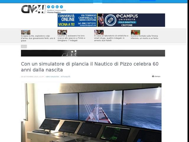 Con un simulatore di plancia il Nautico di Pizzo celebra 60 anni dalla nascita