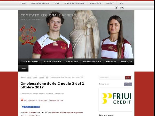 Omologazione Serie C poule 2 del 1 ottobre 2017