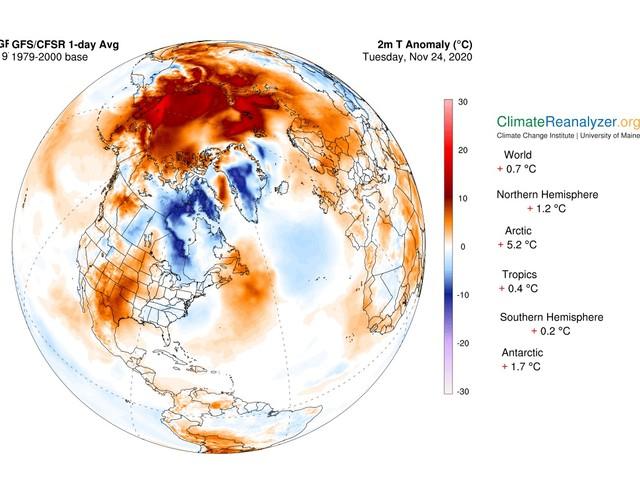 Caldo record nell'Artico: temperature invernali fino a 20° C in più di quanto dovrebbero essere