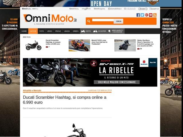Ducati Scrambler Hashtag, si compra online a 6.990 euro