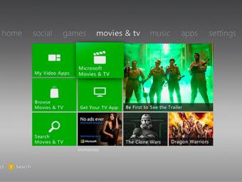 Film e programmi TV? Si guardano anche sulla console Xbox 360!