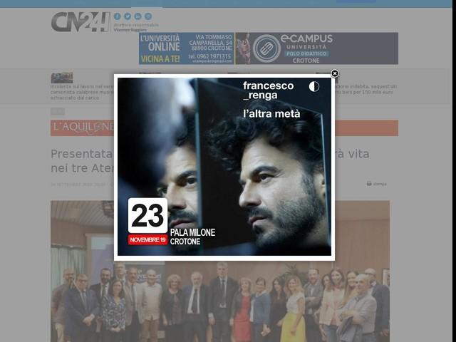 Presentata la Notte dei Ricercatori 2019 : prenderà vita nei tre Atenei calabresi