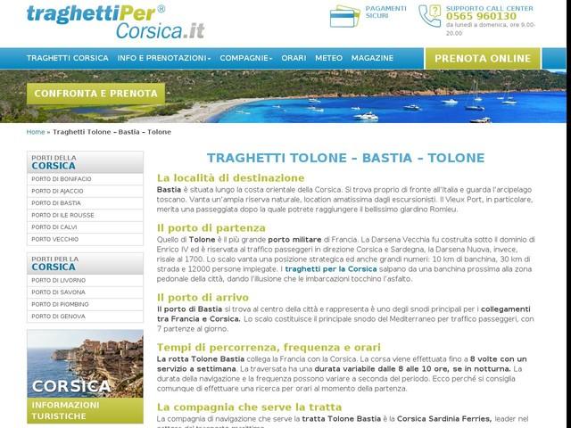 Traghetti Tolone Bastia - Prenota online - Traghetti Corsica