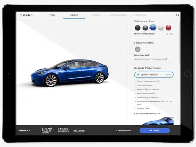 Tesla Model 3, da oggi si ordina online e arriva a marzo