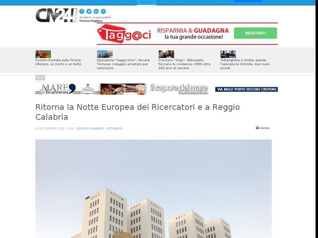 Ritorna la Notte Europea dei Ricercatori e a Reggio Calabria