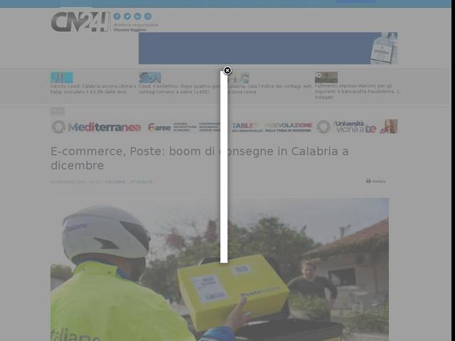 E-commerce, Poste: boom di consegne in Calabria a dicembre