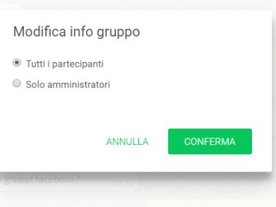 Gruppi Whatsapp, come creare una bachceca di avvisi