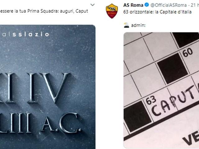 Natale di Roma: il derby non finisce mai, nemmeno sui social