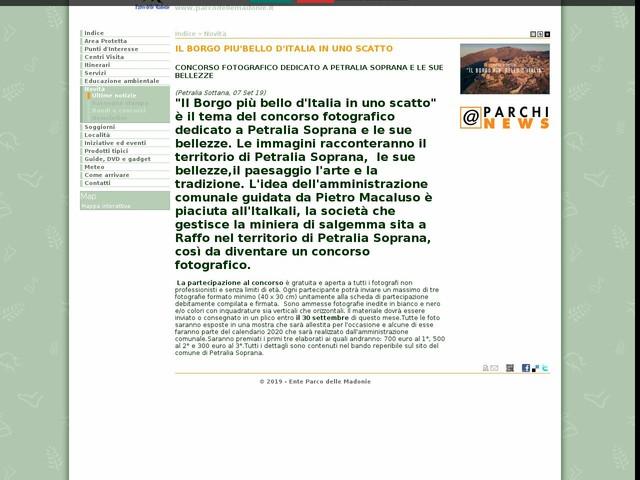 PR Madonie - IL BORGO PIU'BELLO D'ITALIA IN UNO SCATTO