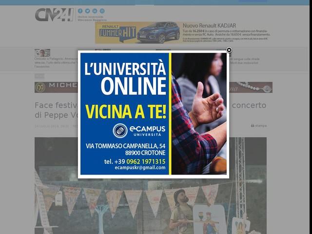 Face festival chiude un altro appuntamento con il concerto di Peppe Voltarelli