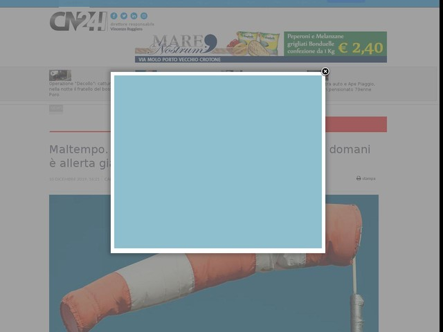 Maltempo. Perturbazioni in arrivo nel pomeriggio: domani è allerta gialla in Calabria