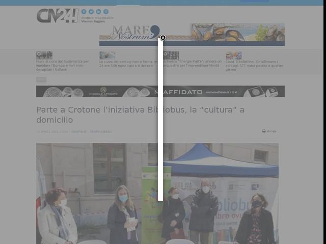 """Parte a Crotone l'iniziativa Bibliobus, la """"cultura"""" a domicilio"""