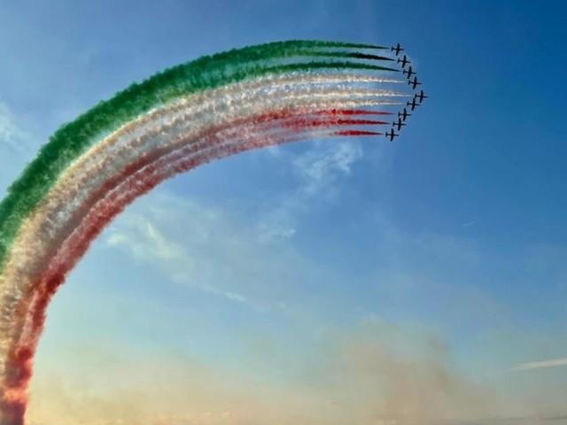 Le Frecce Tricolori tornano dopo due anni a sfrecciare nei cieli