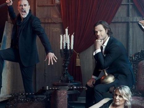 La foto di un'epica riunione di famiglia in Supernatural 14 per i Winchester nell'episodio numero 300