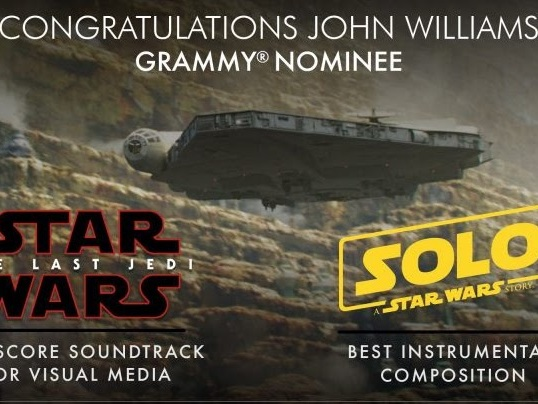 John Williams Up For Two Grammys. Listen To All The Nominations Here