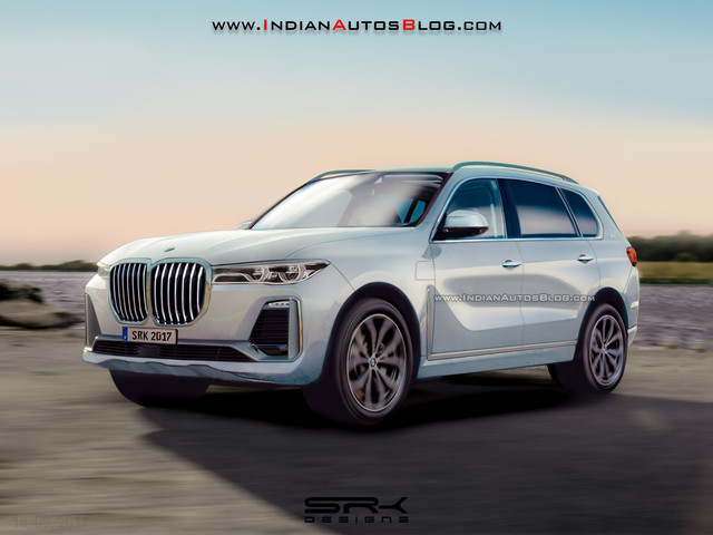 BMW X7 Rendering looks very Concept-y