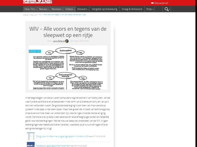 WIV - Alle voors en tegens van de sleepwet op een rijtje