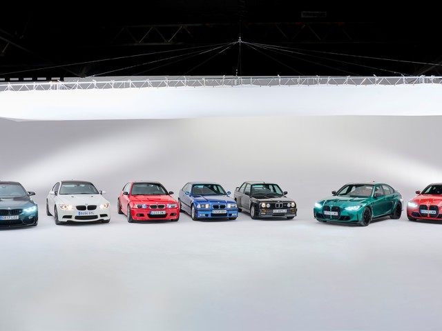 Photo Gallery: Six generations of the BMW M3 and M4 side-by-side