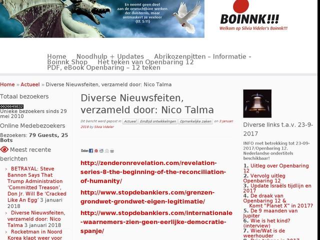 Diverse Nieuwsfeiten, verzameld door: Nico Talma