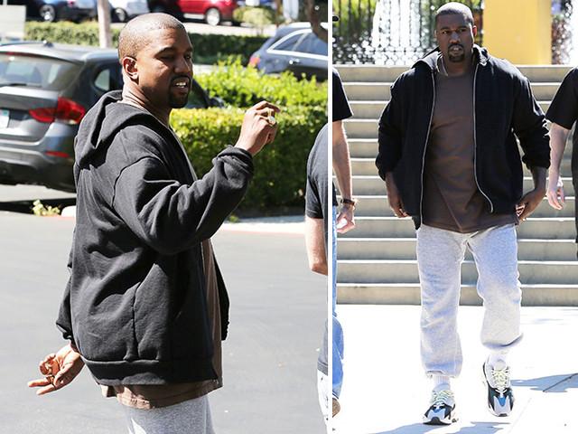 Kanye Suddenly Has A Kardashian Booty!