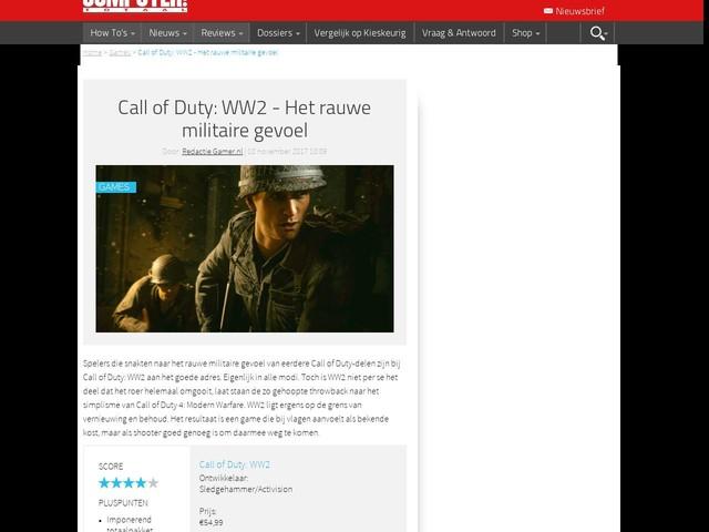 Call of Duty: WW2 - Het rauwe militaire gevoel