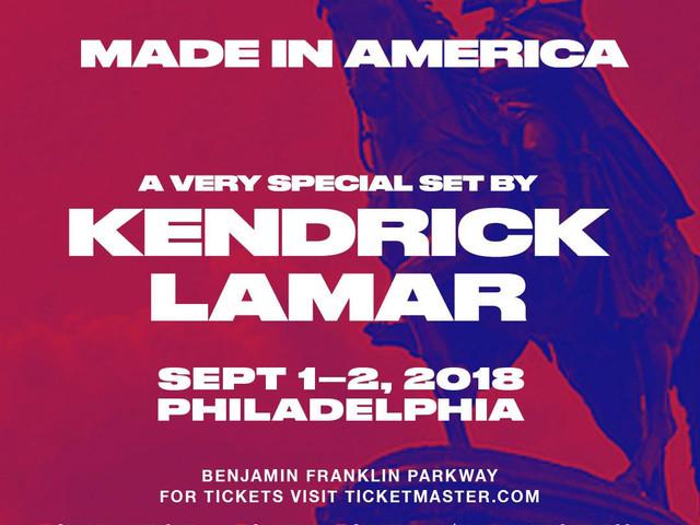 Kendrick Lamar Joins 'Made In America' Lineup
